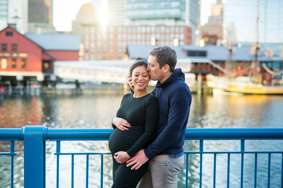 Maternity Photos in the Boston Seaport