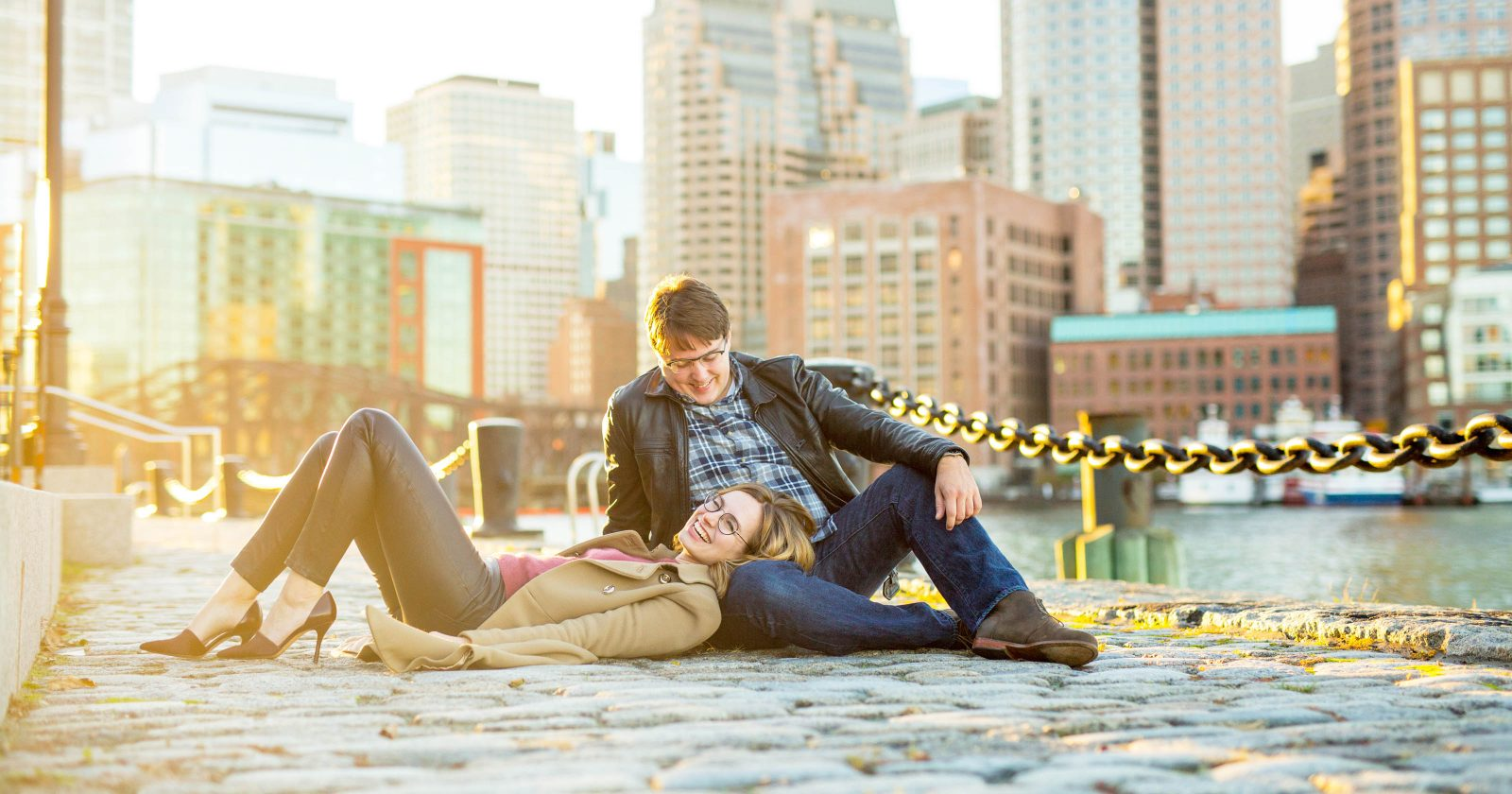 Lucy + Kevin at the Boston Seaport