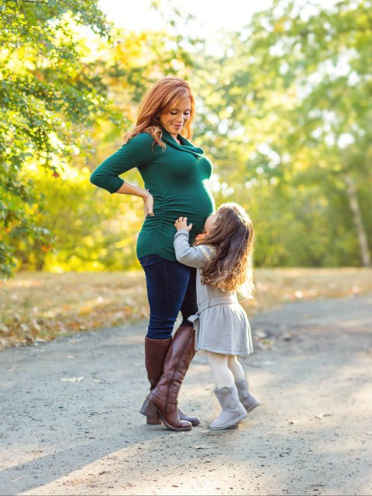 Boston Autumn Maternity Photos (& a new baby, too!)