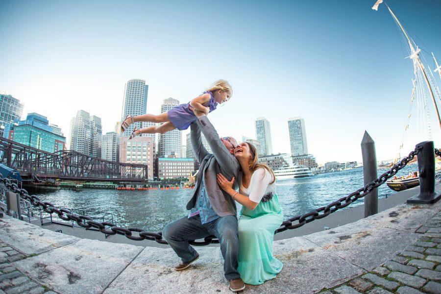 Seaport Family Photos in Downtown Boston!