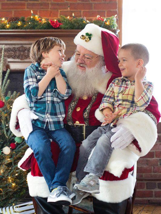 Santa's Visit to KLP! | Boston Santa Photos