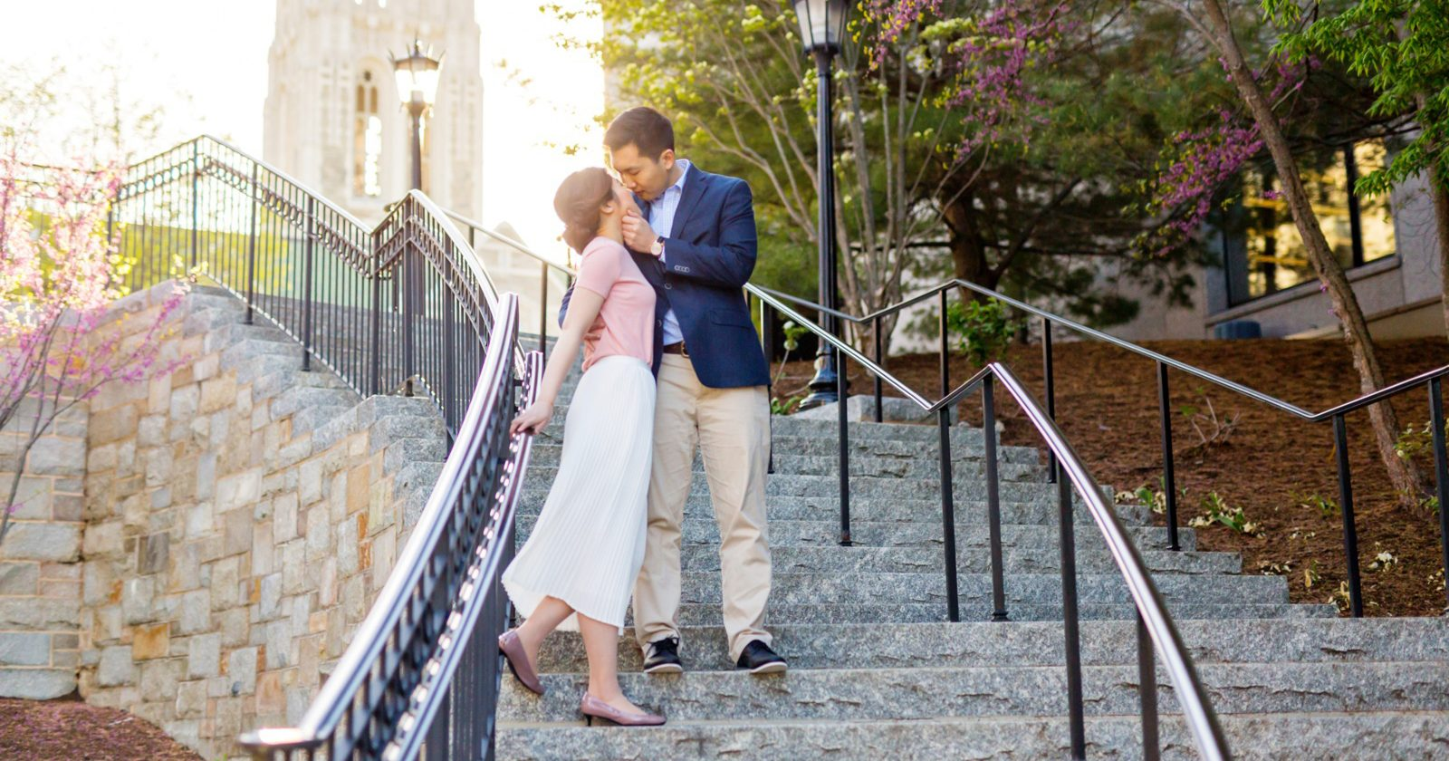 Boston College Engagement Photos