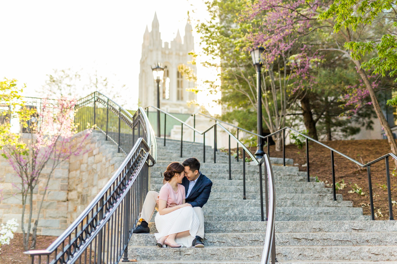 Engagement photographer for Boston College Middle Campus