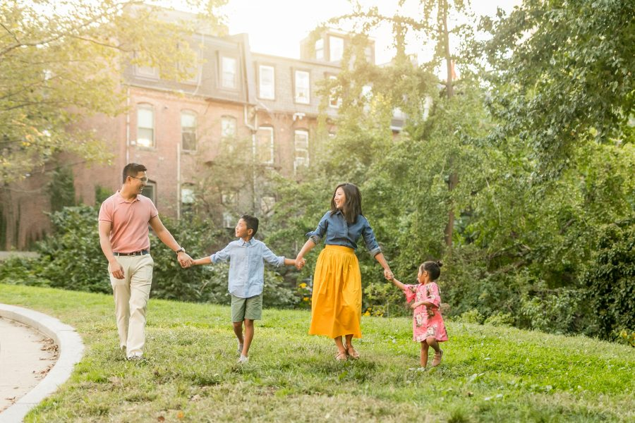 Colorful Family Photos in Boston's South End