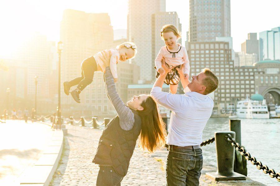 Boston Harbor Downtown Family Photos