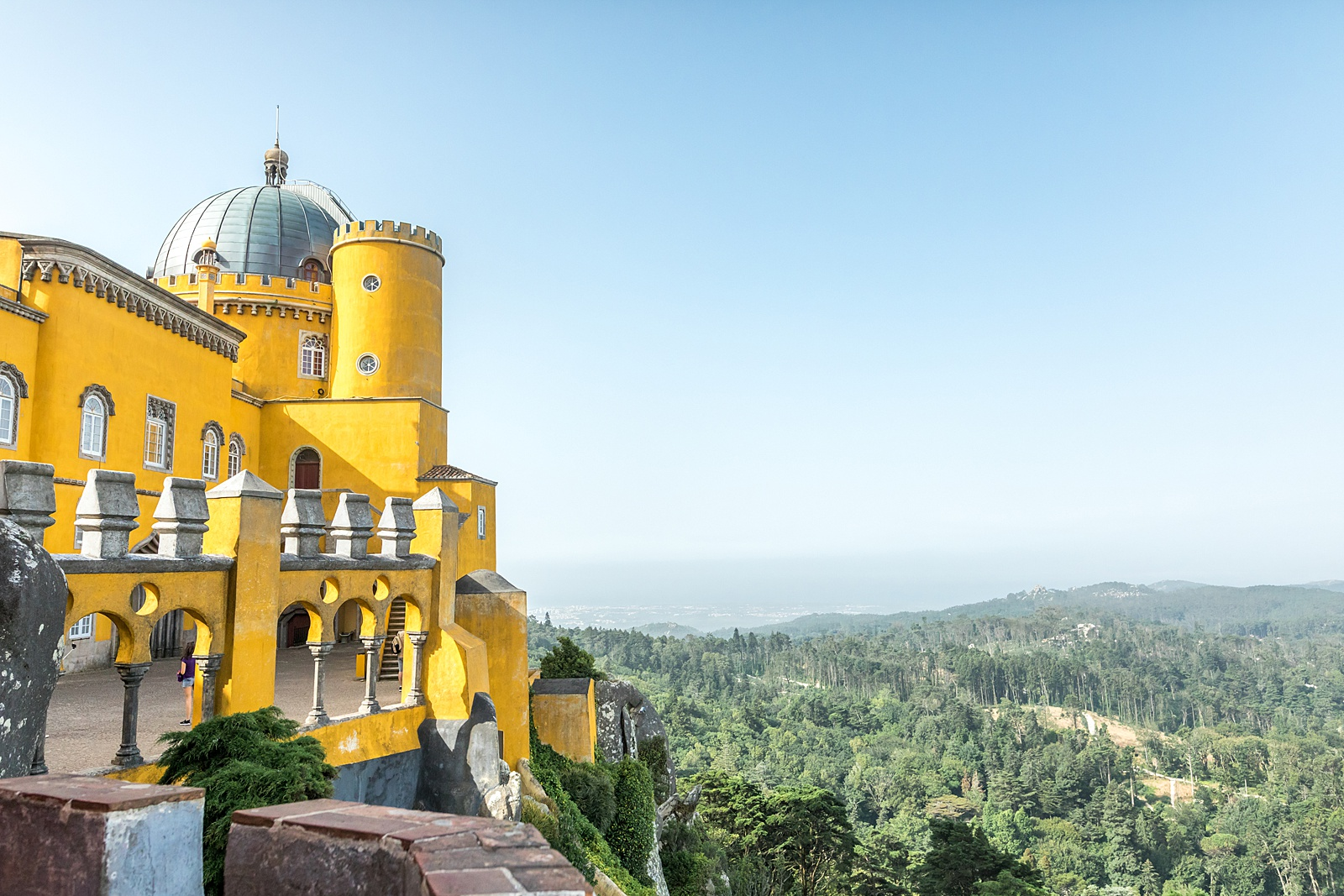 overlook from Pena Palace, Sintra