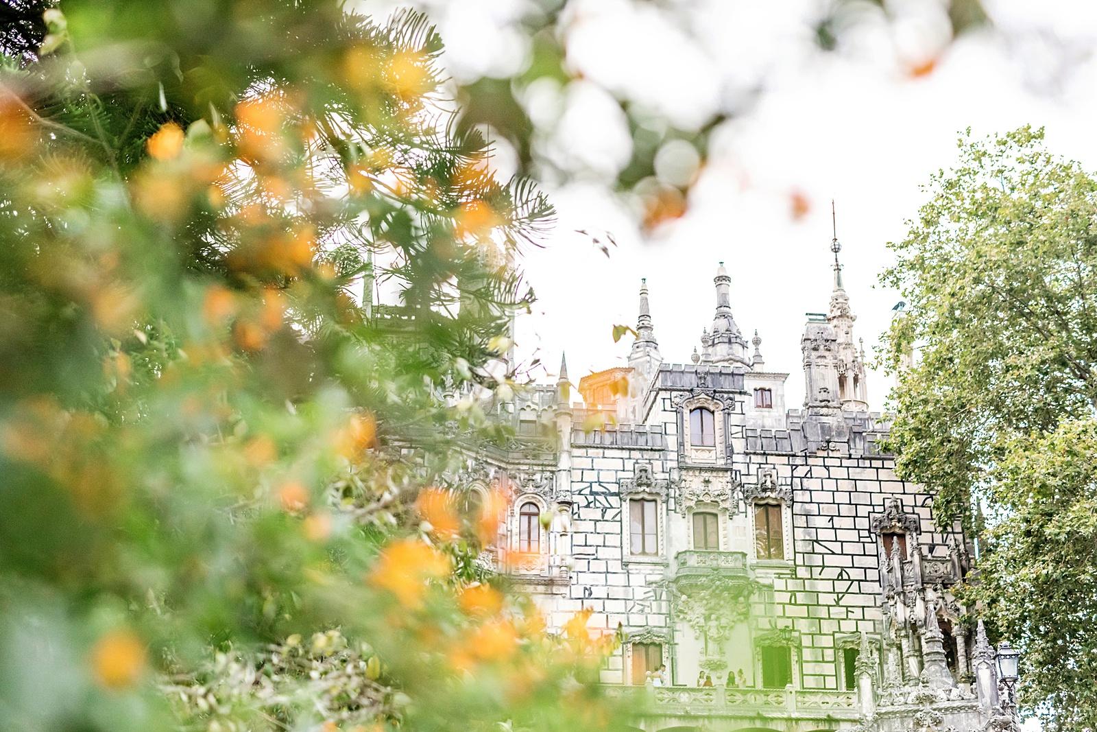 Quinta da Ragaleira, Sintra framed by flowers