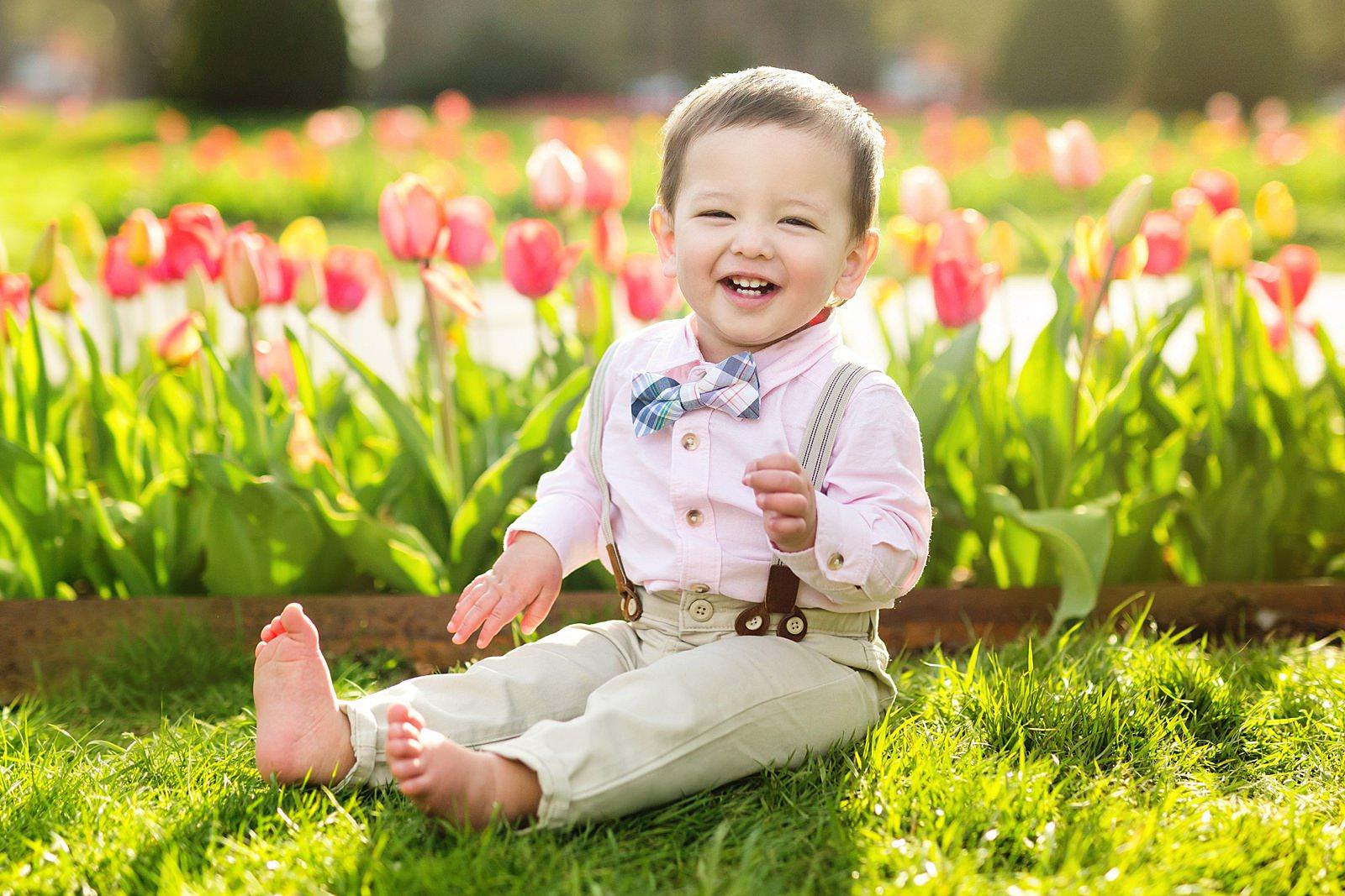 Boston Public Garden spring family photos