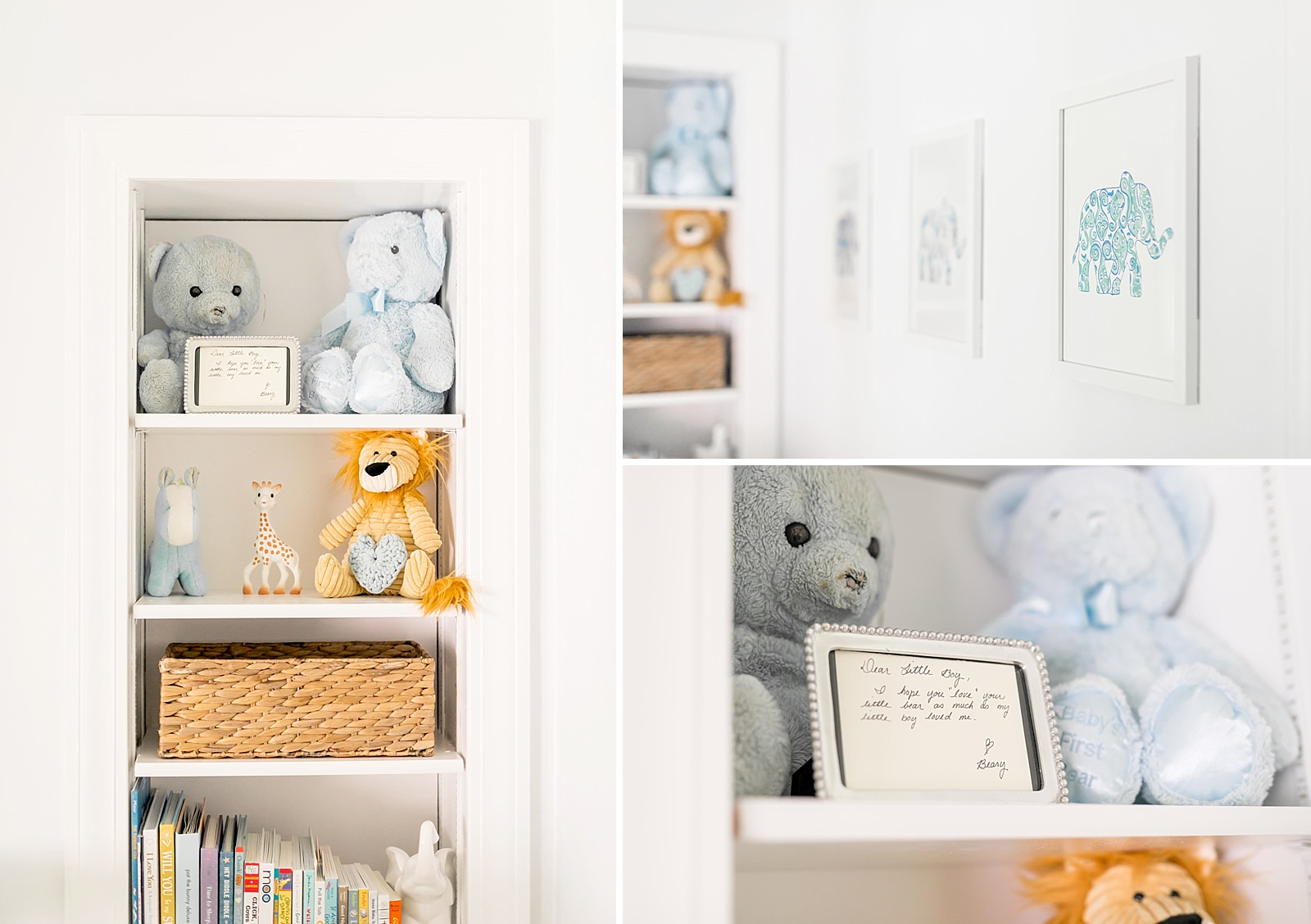 newborn nursery bookshelf