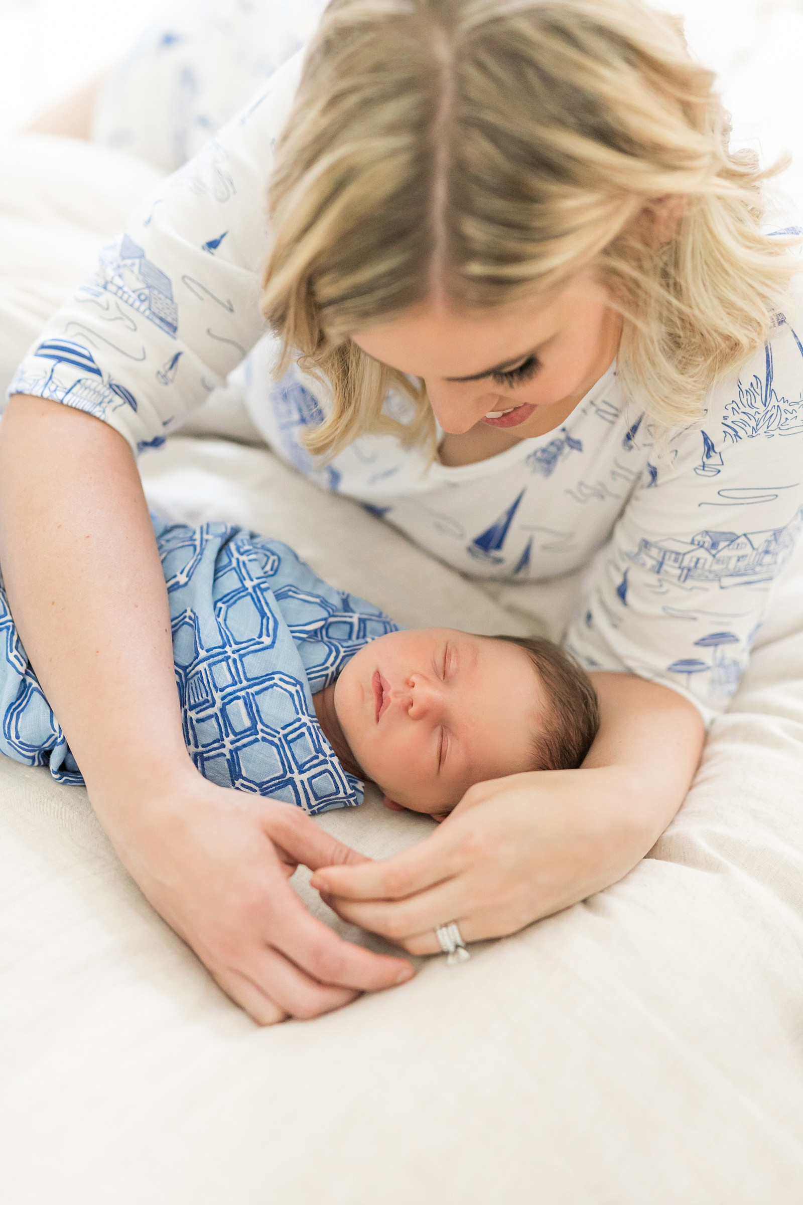 mother and son newborn photo