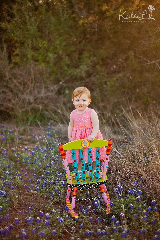 Baby girl in bluebonnets