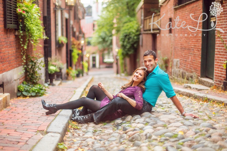 Engagement photos for bridget navarro & armon sharei . Photographed at Acorn Street and the Charles River Esplanade in Boston, MA.