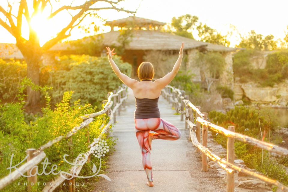 Tree pose! Boston yoga photographer Kate L Photography captures colorful images of yoga teachers and yoga students.