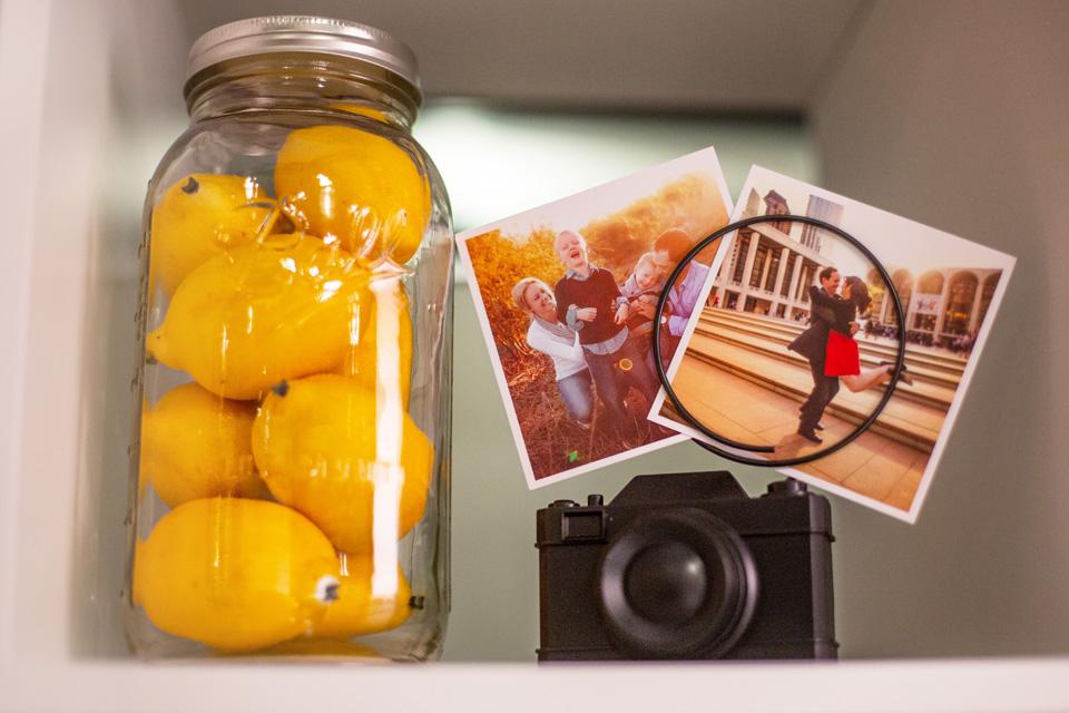 plastic lemons in mason jar