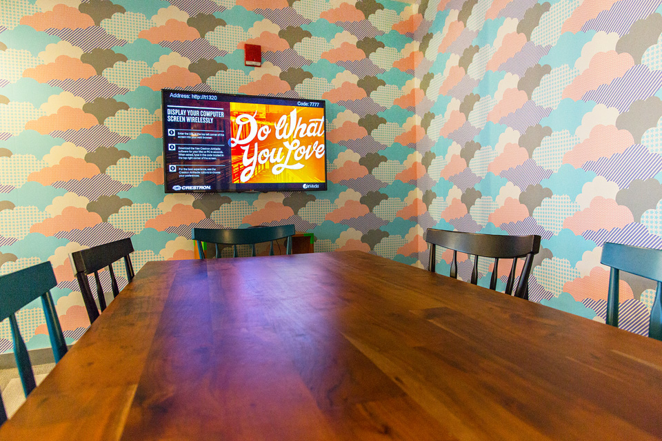 WeWork conference room at Fort Point's location