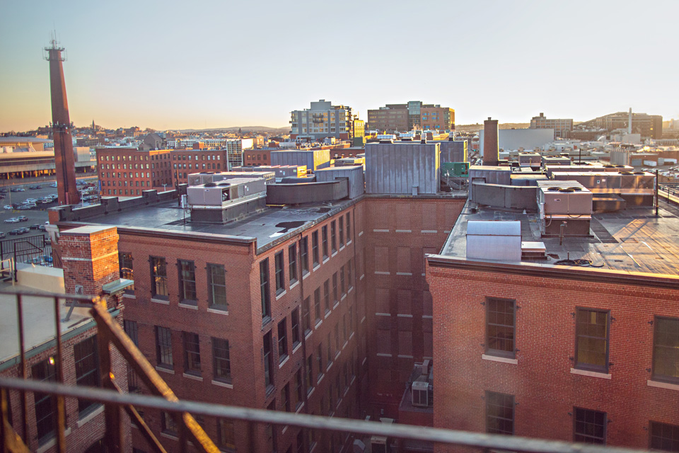 Rooftop view of Fort Point Arts District