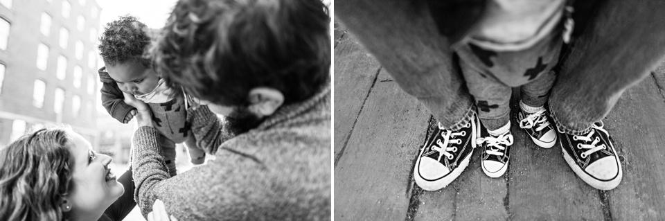baby converse with dad's converse