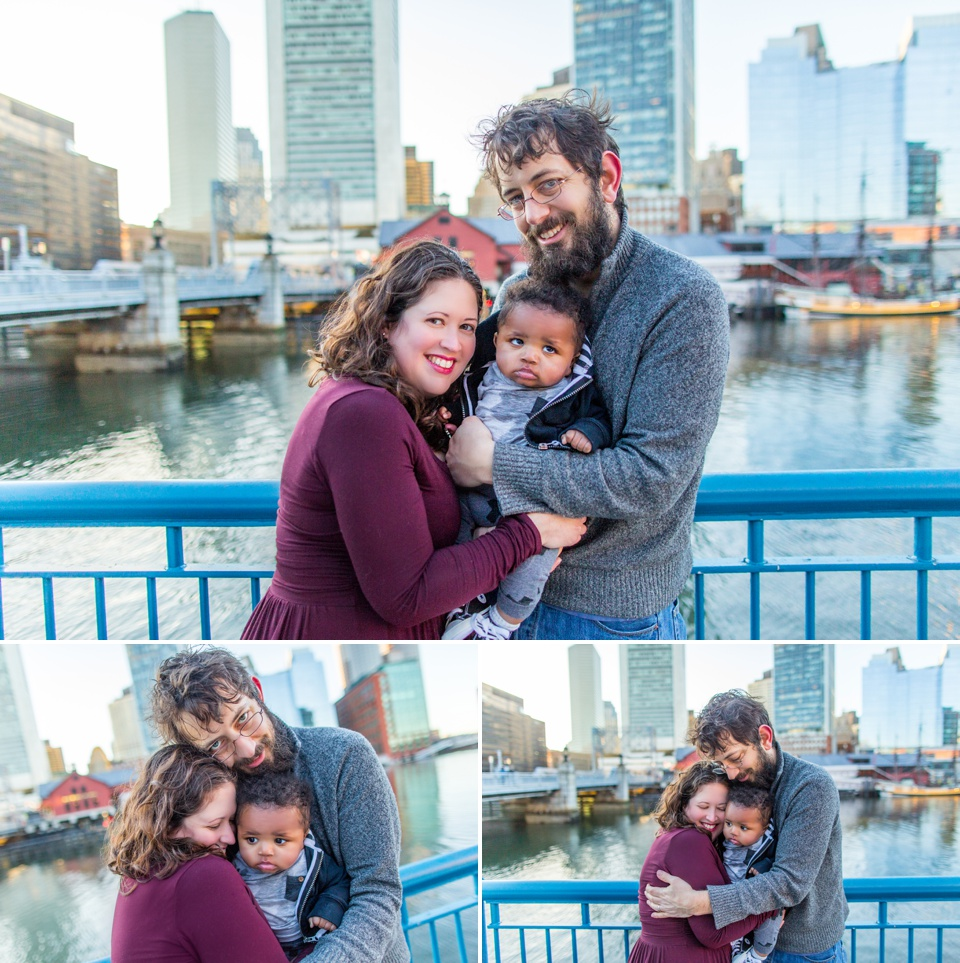 family photo session at boston seaport