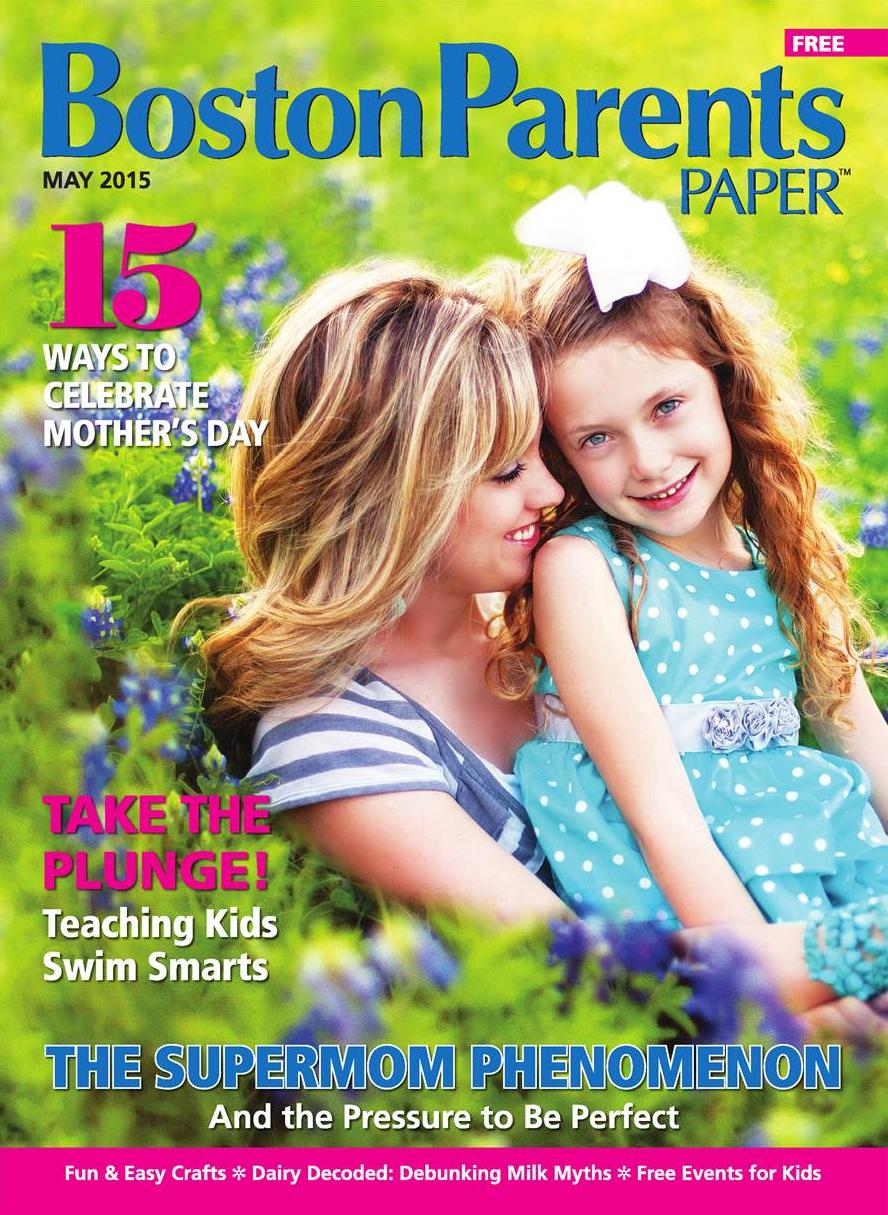 boston parents paper magazine cover features kate L photography