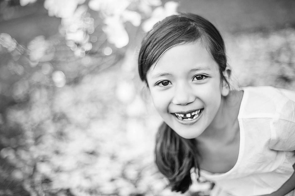 black and white portrait of child in newton, ma
