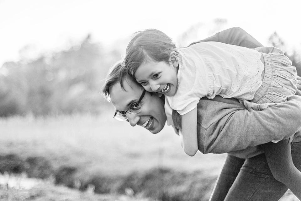 daddy/daughter piggyback ride.