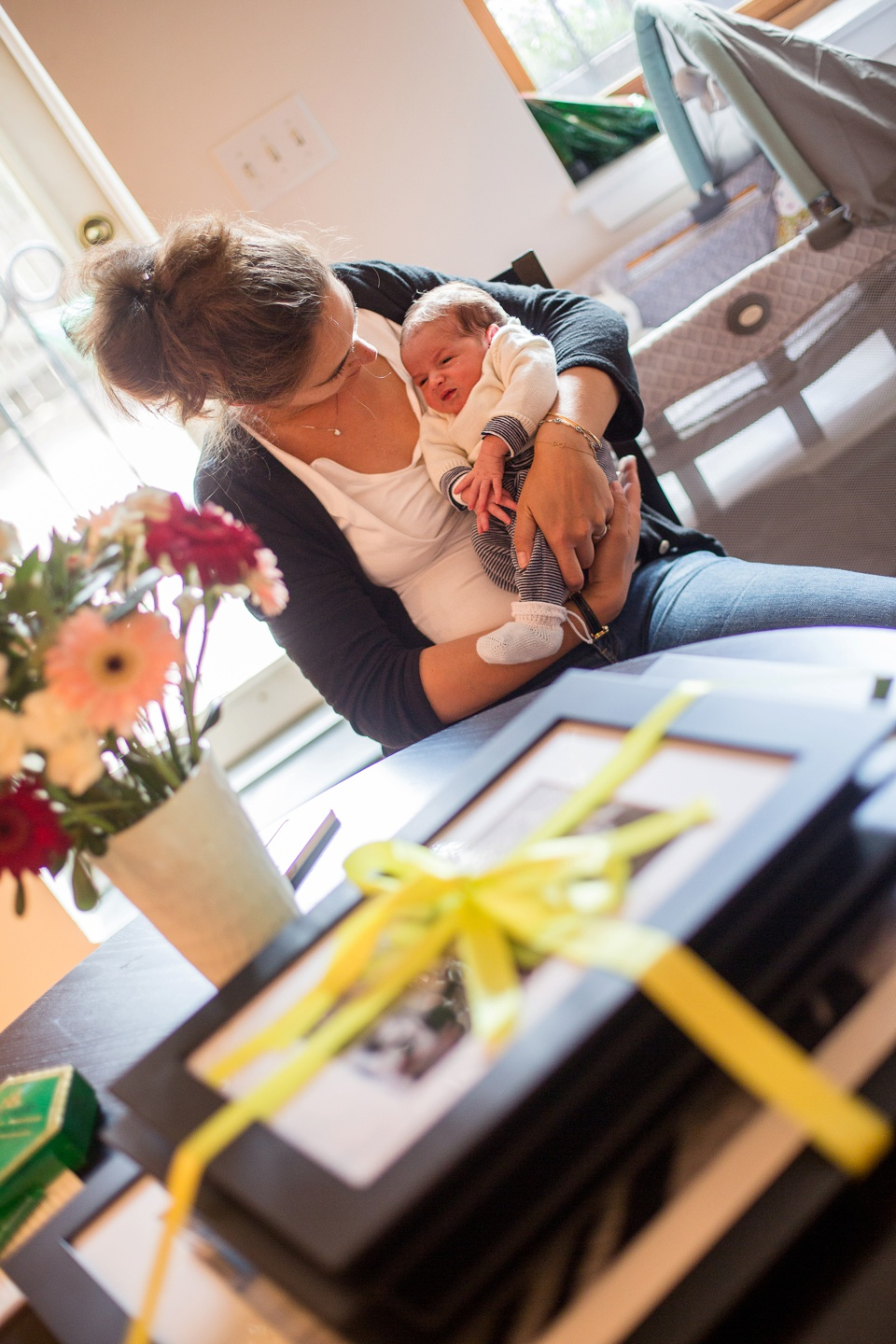 newborn baby photographed at home in boston's south end