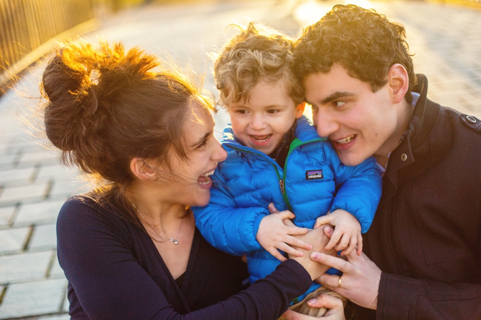 Family photographs at the Charles River Esplanade.