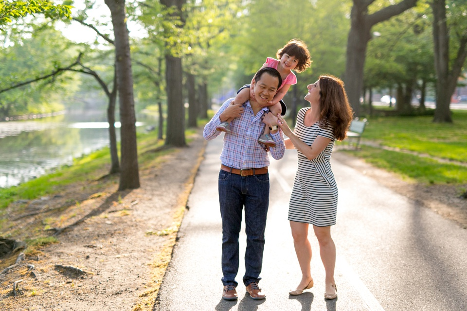 A family photographed by Boston family photographer Kate Lemmon.
