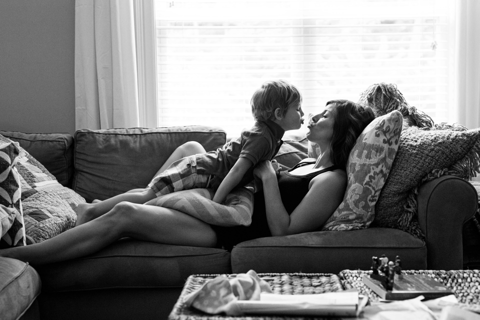 A day in the life of a family, as captured by a Boston documentary family photographer.