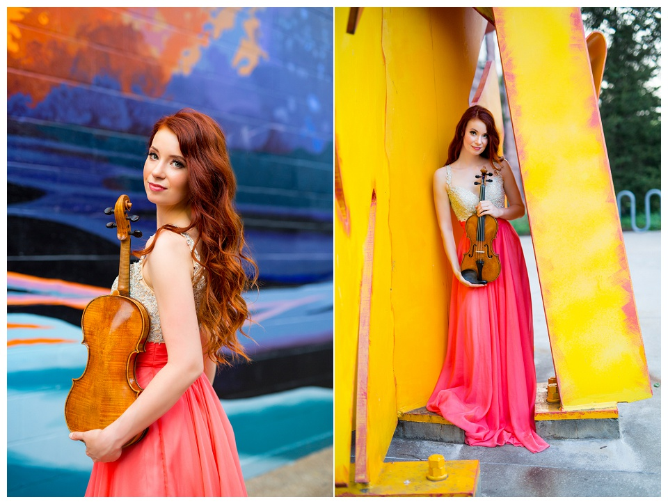 Chloé Trevor, violinist, photographed by Boston headshot photographer Kate Lemmon.