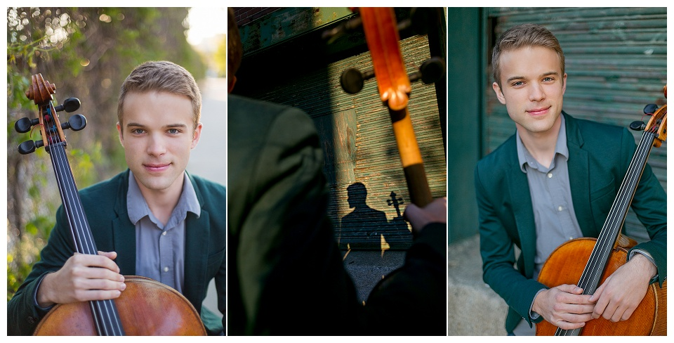 A classical cellist photographed in Boston's Fort Point neighborhood. Boston headshot photographer.