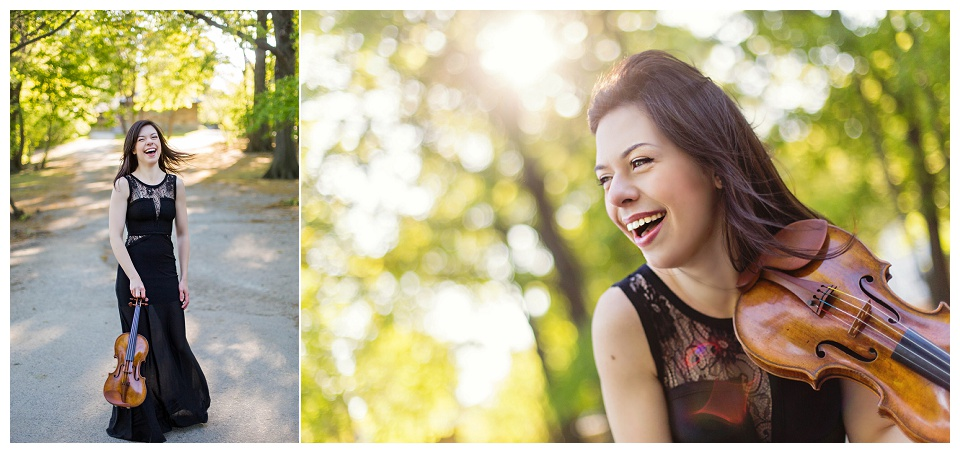 Violinist Tessa Lark, photographed by Boston headshot photographer Kate Lemmon.