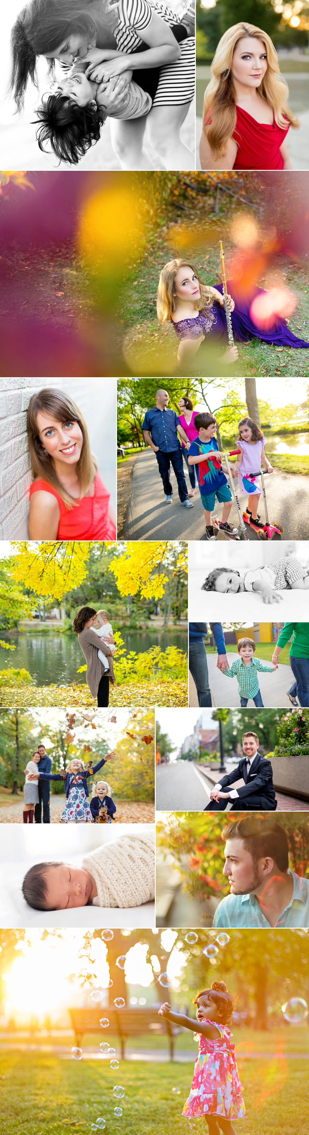 Family photographs outdoors in Boston, taken by Kate L Photography.