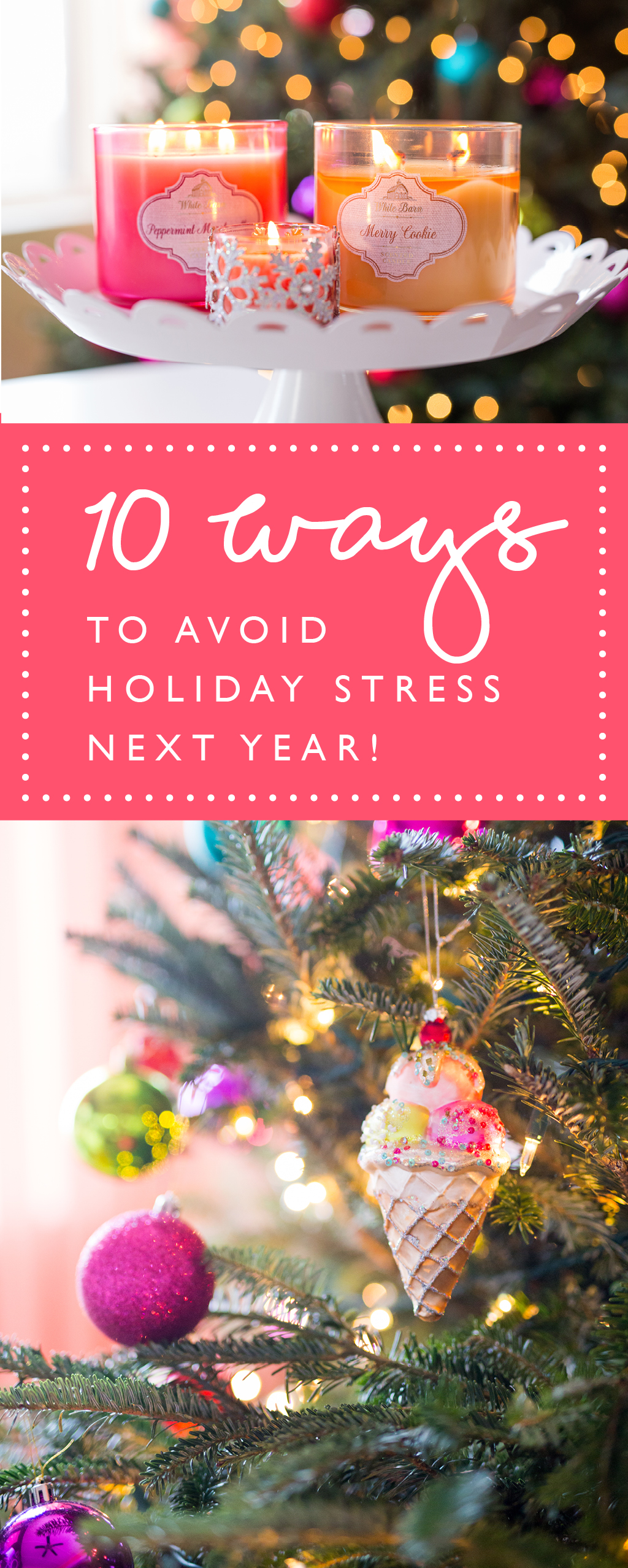 10 ways to conquer holiday stress and have more time to watch Elf next year! Let's do this, 2017! www.kateLphotography.com