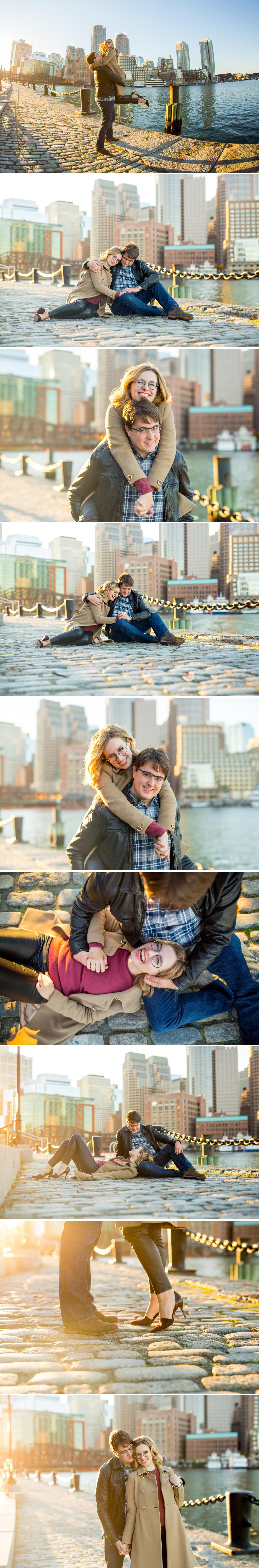 Boston Seaport Engagement Session - Fan Pier Park