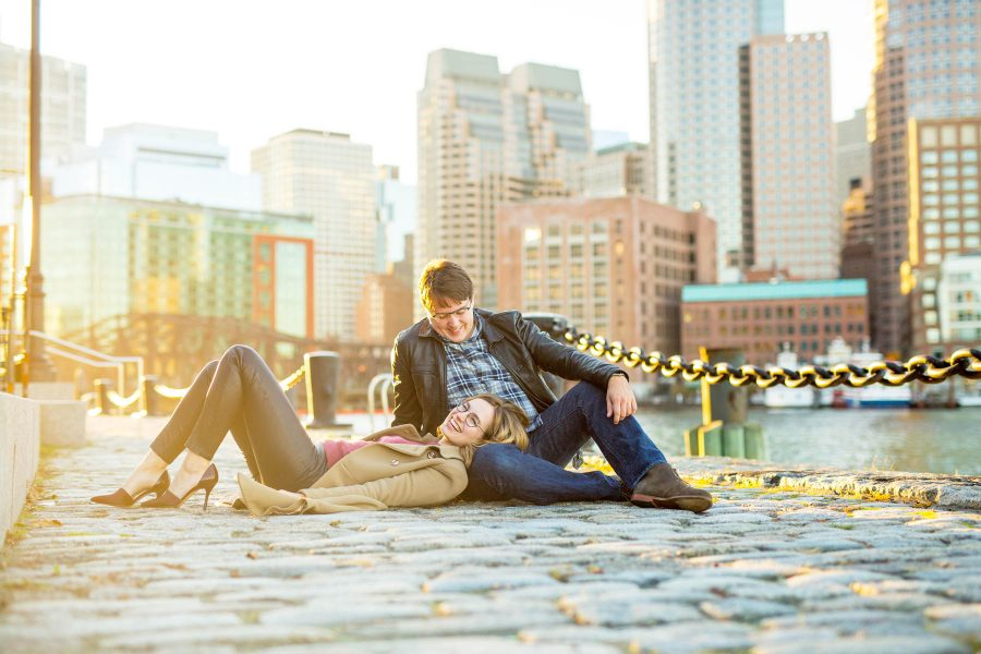 Boston Seaport Engagement Photos | Lucy + Kevin