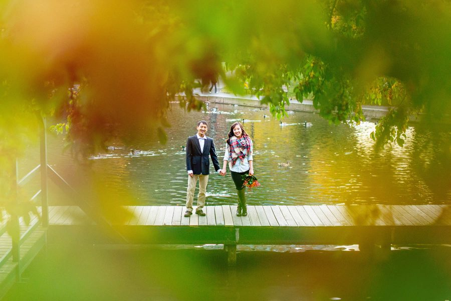 Fall Engagement Photos in the Boston Common
