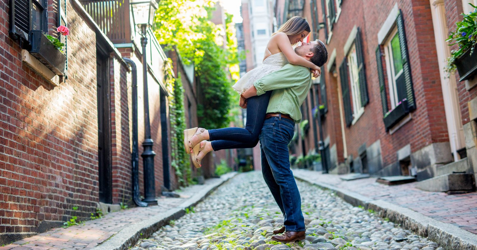 Engagement Photos in the Boston Public Garden